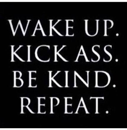 be kind kick ass