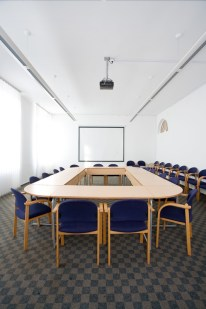 an empty classroom symbolising typical training courses