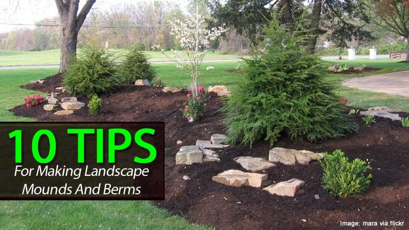 10 Berm Landscaping Tips: Building A Berm Or Landscape Mounds