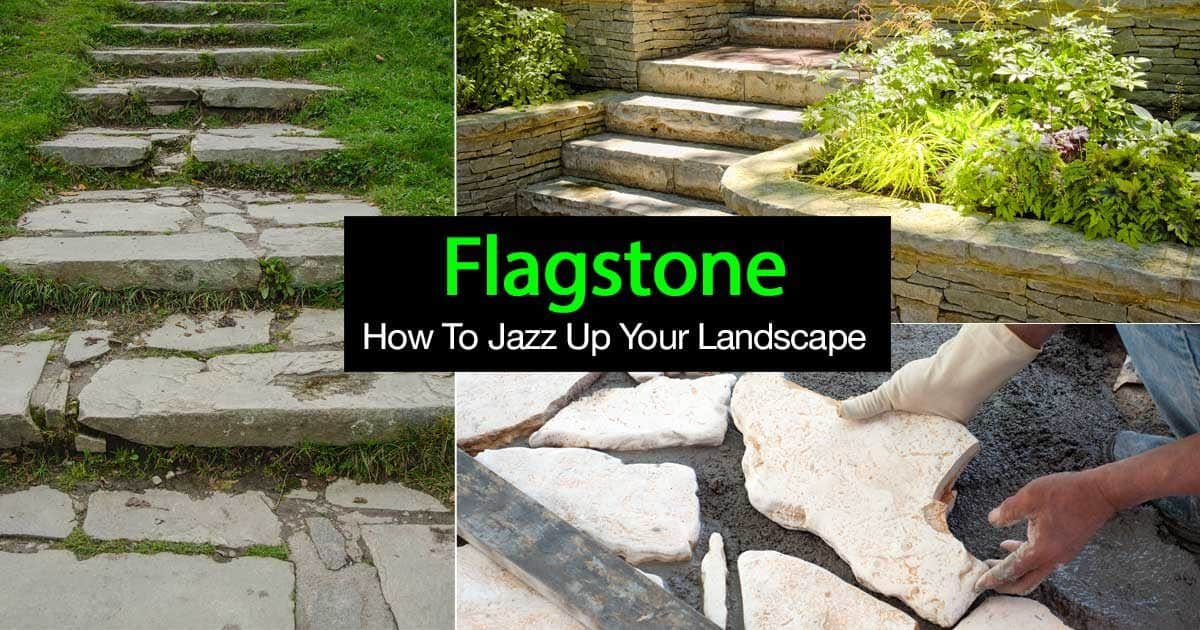 landscape with flagstone