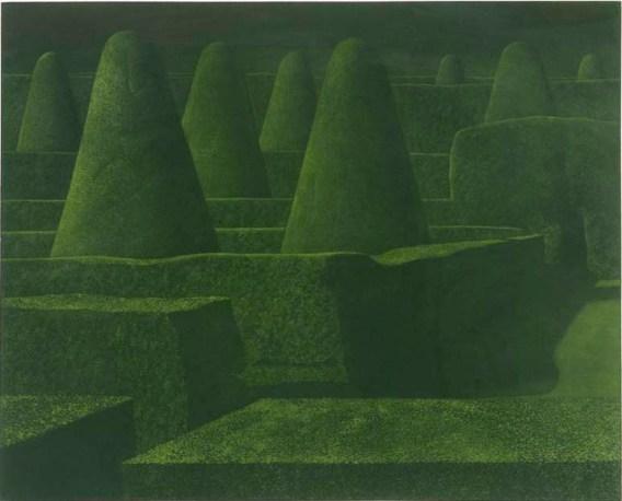 Shadowed Garden, 1977, Mezzotint