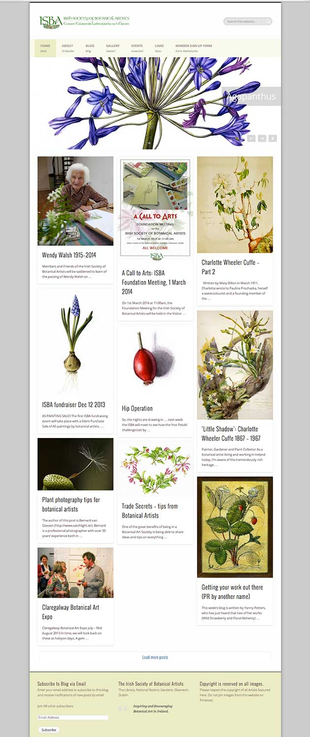 Irish botanical art society website