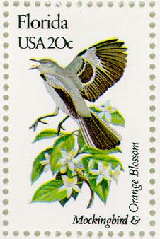 USA state flower stamp