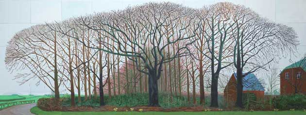 tree paintings: David Hockney