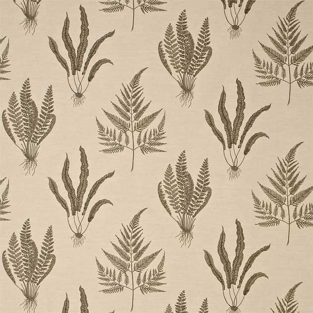 Woodland ferns botanical fabric