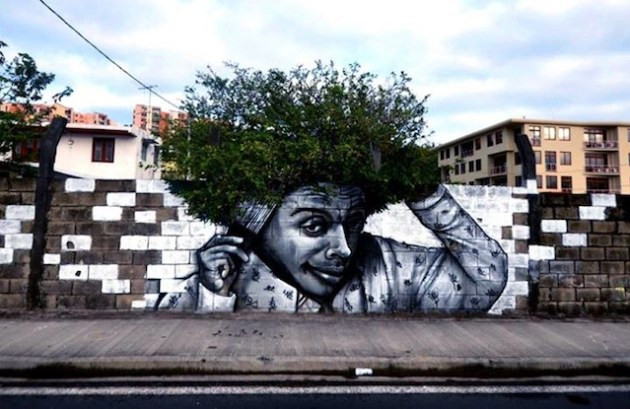 Street art with hair