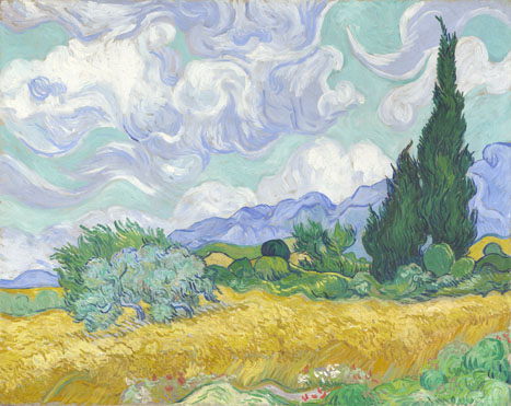 National Gallery: Van gogh wheat field with cypress