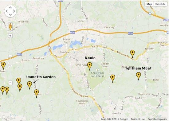 Kent garden map