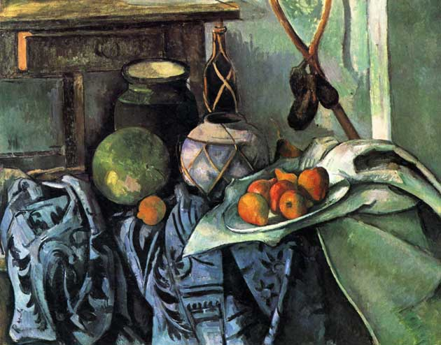 Cezanne still life with aubergine