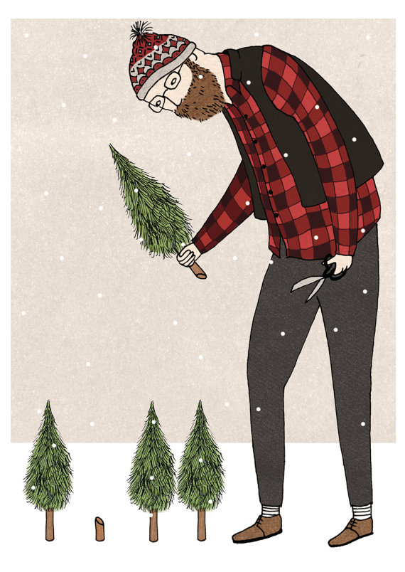 lumberjack christmas cards
