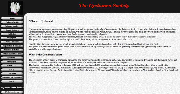 cyclamen society