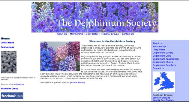 Delphinium society
