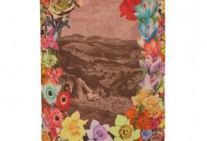 Paul Smith Flower Garland Print Modal-Blend Scarf