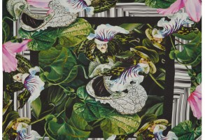 Peter Pilotto Green Orchid Silk Scarf
