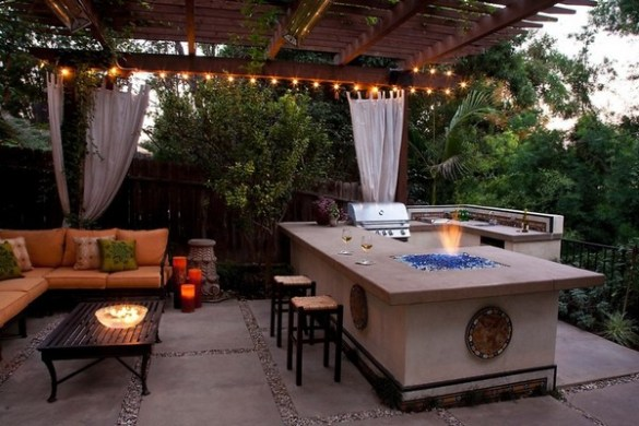 31 Amazing Outdoor Kitchen Ideas   Planted Well Outdoor Kitchen and Lounge