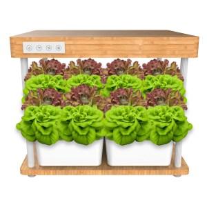 Indendørs køkkenhavesystem u/jord m. fuldspektrum plantevækstlys 40Watt LED lyssystem