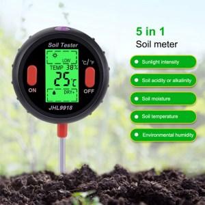 Digital Plantejordstester – Lux   PH   Fugtighed jord og luft