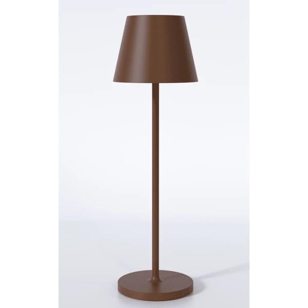 Udendørs brun bordlampe med batteri