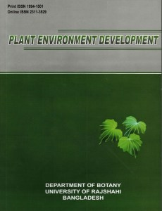 Plant Environment Development Journal Cover