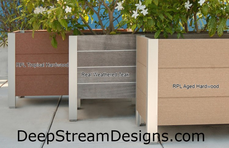 Large Wooden Planter: comparing real wood to recycled plastic lumber. Click  to see more about recycled plastic lumber planters