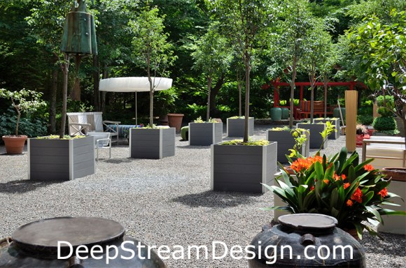 Large Square Wood Garden Planters