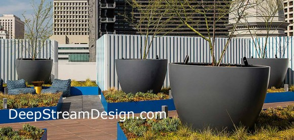 Click for more information on DeepStream Design's Downtown GFRC Concrete Planters