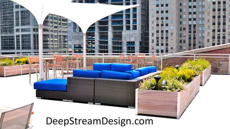 DeepStream's Large Lightweight Wood Planter System