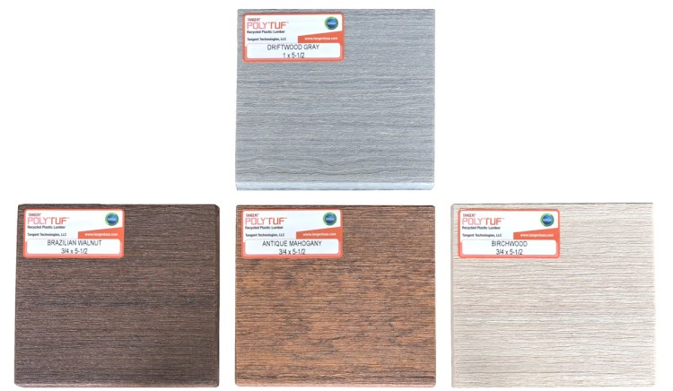 4 premium wood grain recycled plastic lumber colors click for more information on recycled plastic lumber