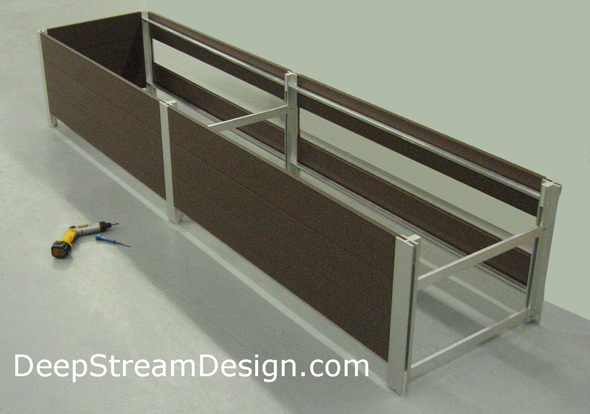 DeepStream's cost effective, quick and easy, multi-section planter assembly.