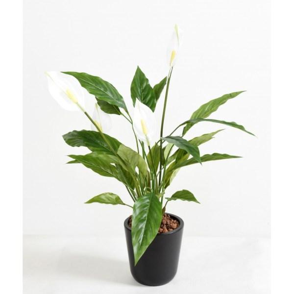 spathiphyllum 4fl plante fleurie artificielle