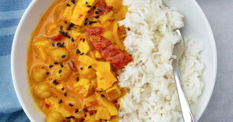 Vegan Yellow Curry with Tofu
