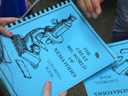 The students all received this coloring book to commemorate their visit.