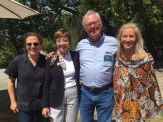 CDFA Secretary Karen Ross Ross (second from left) at Iron Horse Vineyards in Sebastopol for an Earth Day celebrations on Sunday, April 23. Other in the photo, from left, are chef Traci Des Jardins, Stacey Sullivan of Sustainable Conservation, and Joy Sterling, president of Iron Horse and a member of the California State Board of Food and Agriculture.