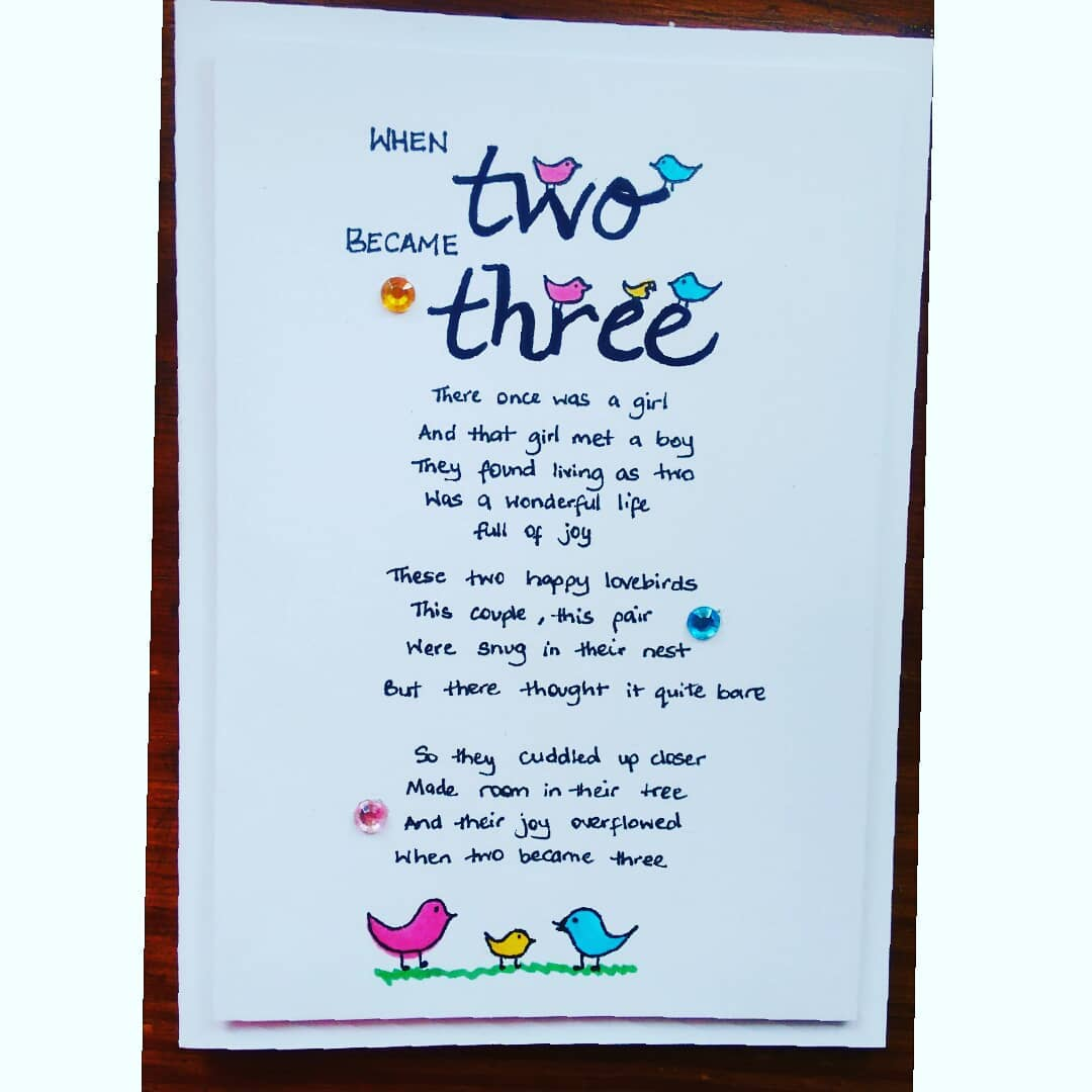 Baby Card When Two Become Three Planting Seeds Digital Pop Up Shop