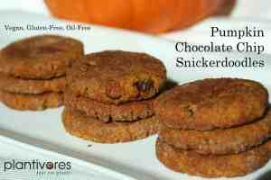 Pumpkin Chocolate Chip Snickerdoodle Cookies, Plantivores