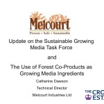 Update on the Sustainable Growing Media Task Force