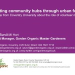 Creating community hubs through urban food