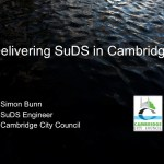 Delivering sustainable drainage systems in Cambridge