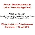 Recent developments in urban tree management