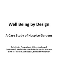 The Landscape, gardens and health network