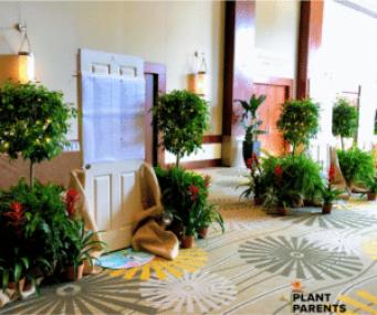 Plant rental event garden theme