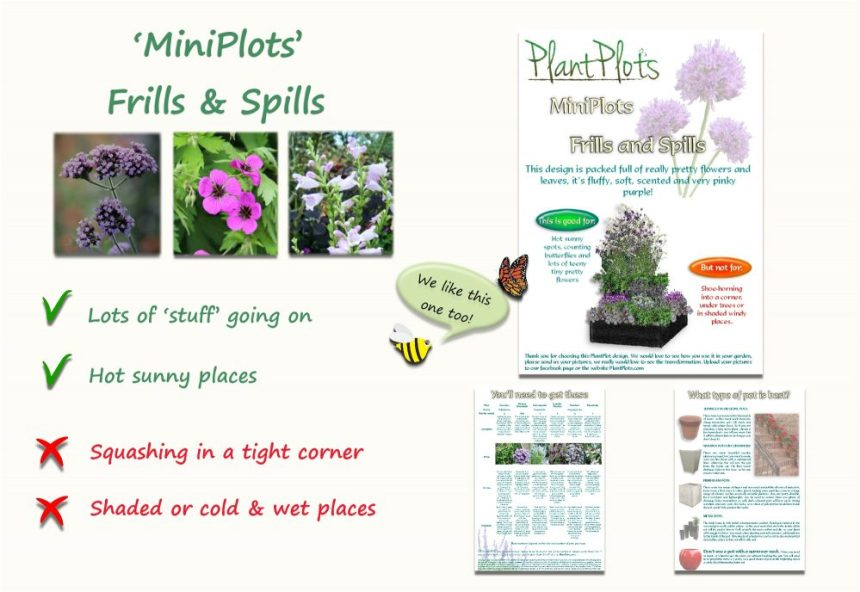 Garden Border Planting Design Plan soft planting scheme in purple and pink