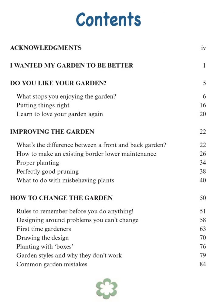 book page I want to like my gardem by rachel mccartain contents page