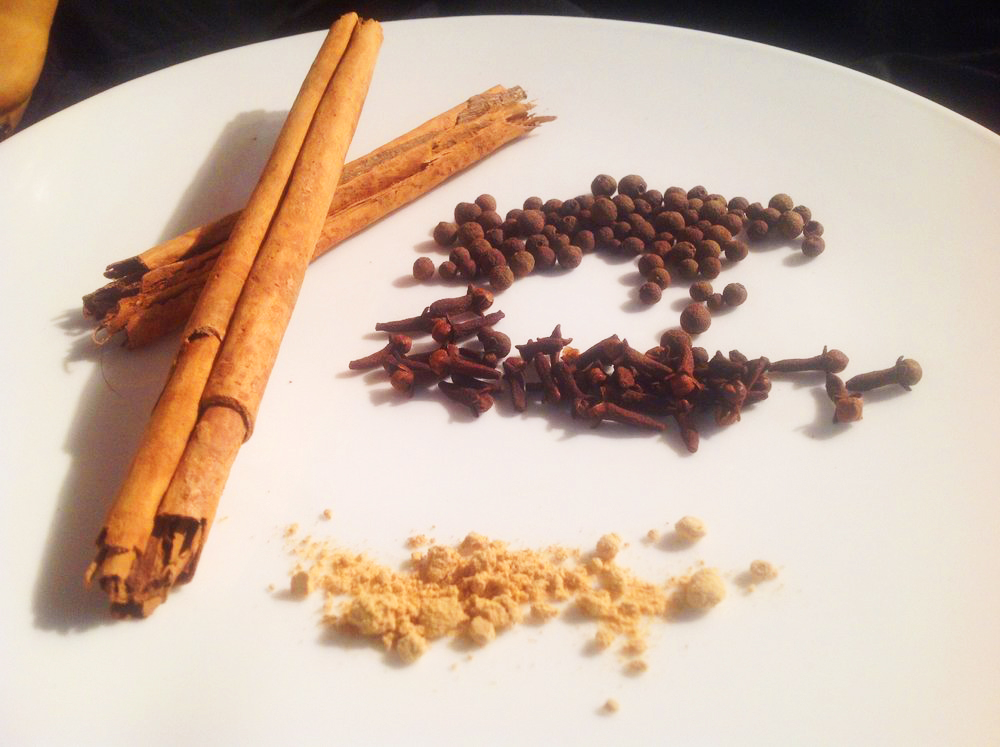 Pumpkin Pie Spices - Ginger, Cinnamon, Clove, Allspice