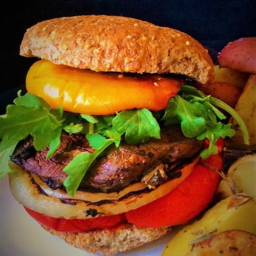Ultimate Portobello Mushroom Burger - Healthy, Plant-Based, Vegan, Vegetarian, Grilled, Oil-Free, Hearty Recipe
