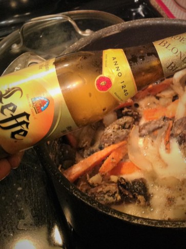 Use a good quality Belgian beer for authentic flavor in this recipe