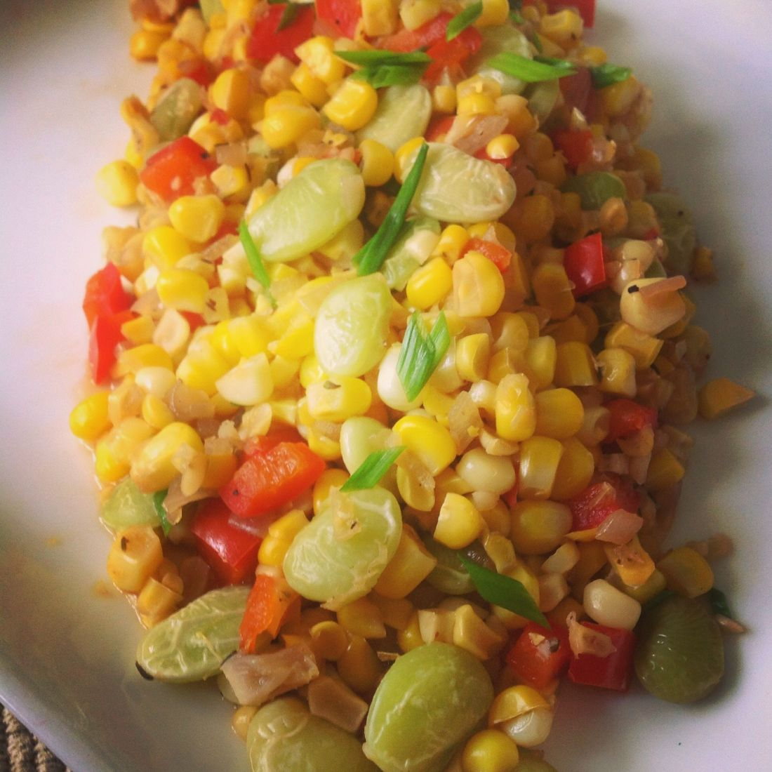 Sweet Summer Corn Succotash - Healthy, Gluten-Free, Oil-Free, Plant-Based, Vegan Recipe