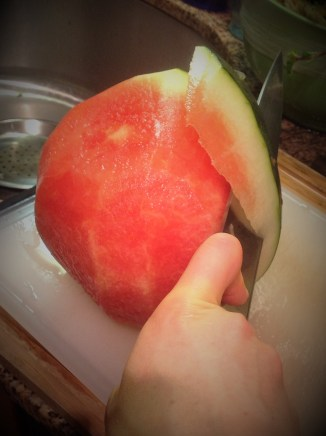 * Chef's Tip for the Moon and Stars Watermelon: Retain the beautiful rind and use as an elegant way to serve this salad. When dicing the watermelon, try to cut around the seeds. If any sneak by, simply remove as best you can.