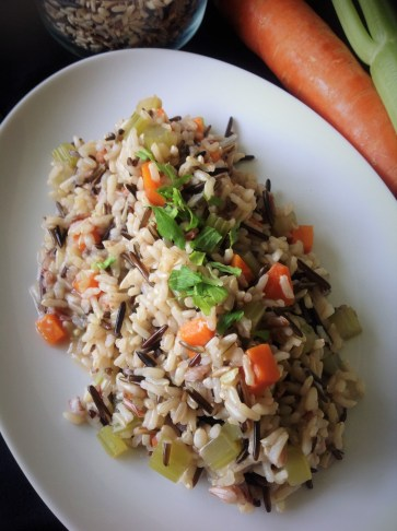 Rice is naturally gluten-free, and simple oil-free flavoring makes this plant-based recipe an essential side dish for holidays or an essential go-to for vegetarian dinners.