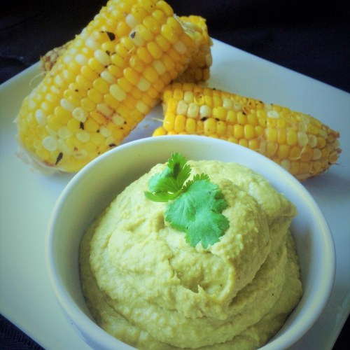 Smoky, Oil-Free Poblano Hummus - Healthy, Gluten-Free, Creamy, Spicy, Mexican Vegan Dip Recipe
